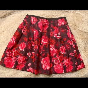 Floral Skater Pleated Skirt